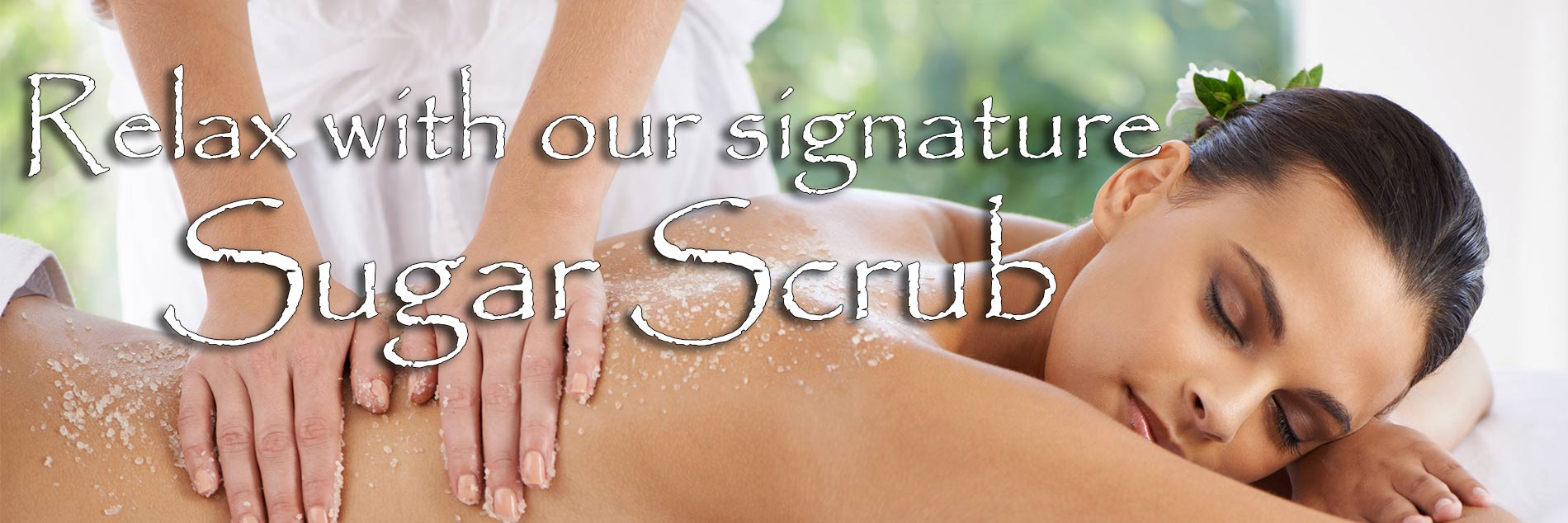 Relax with our signature Sugar Scrub